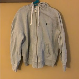 Polo Zip up grey hoodie